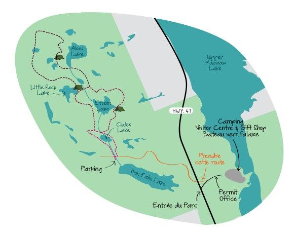Bon Echo Provincial Park Hiking Trail Map