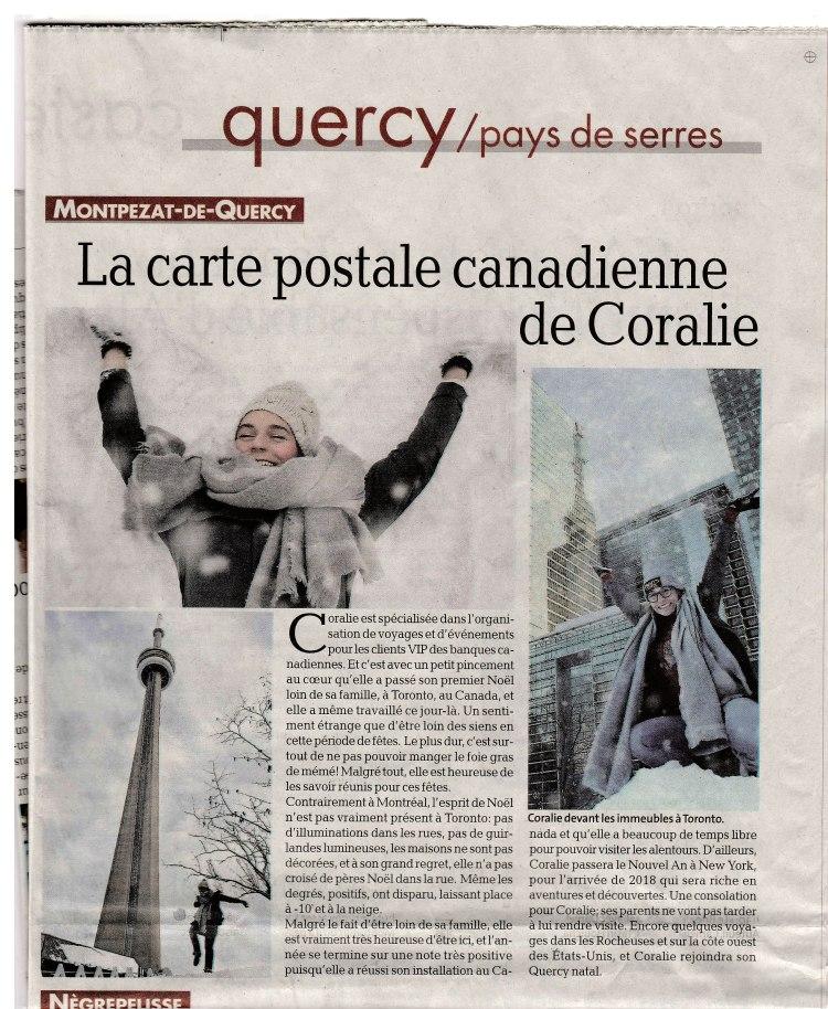 La Depeche Coralie Canada