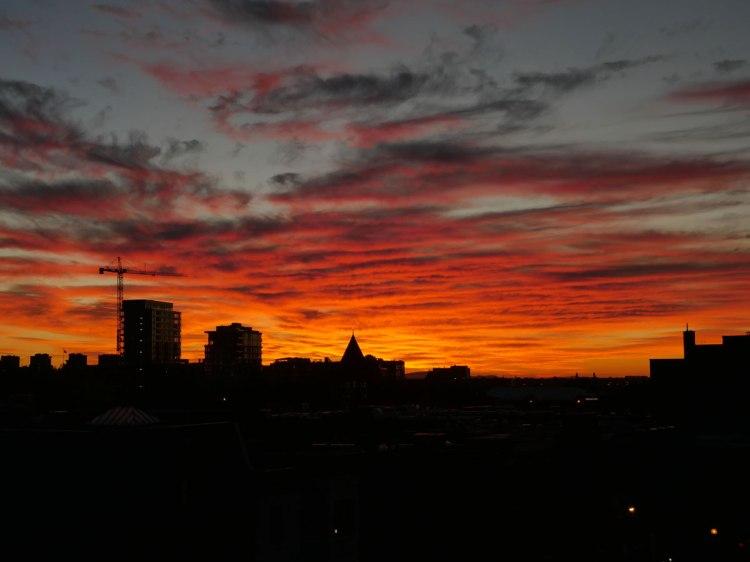 Lever de soleil à Montréal