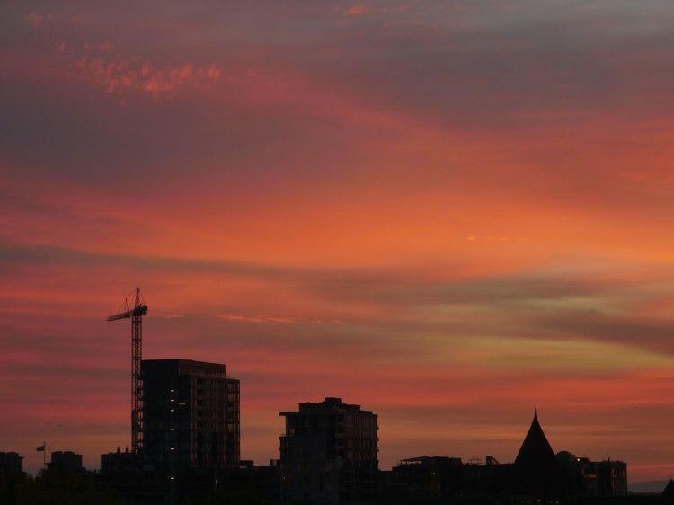 Ciel rose de Montréal